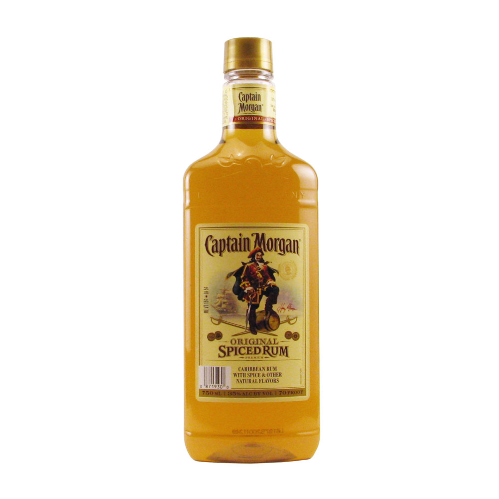 Captain morgan spiced rum 750ml elma wine liquor for What goes good with spiced rum
