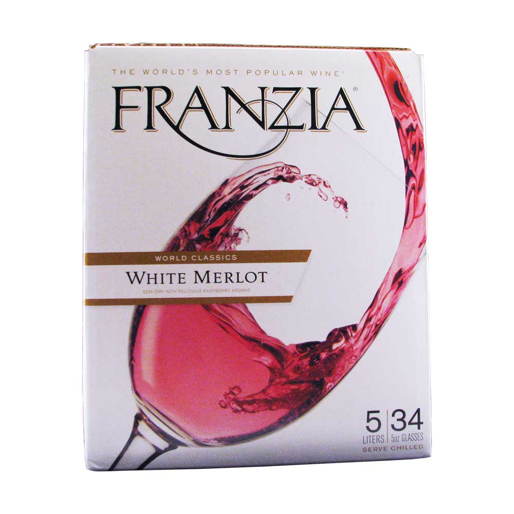 Franzia Wine White Merlot Franzia White Merlot Box Wine 5l