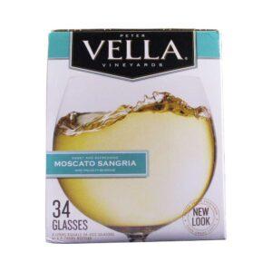 Peter Vella Moscato Sangria Box Wine 5L
