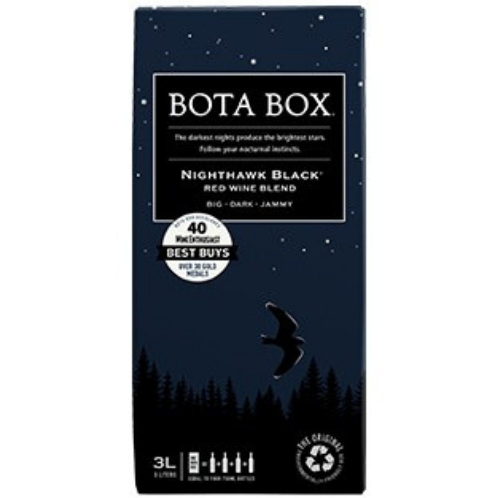 Bota Box Nighthawk Black Red Wine Box Wine 3L