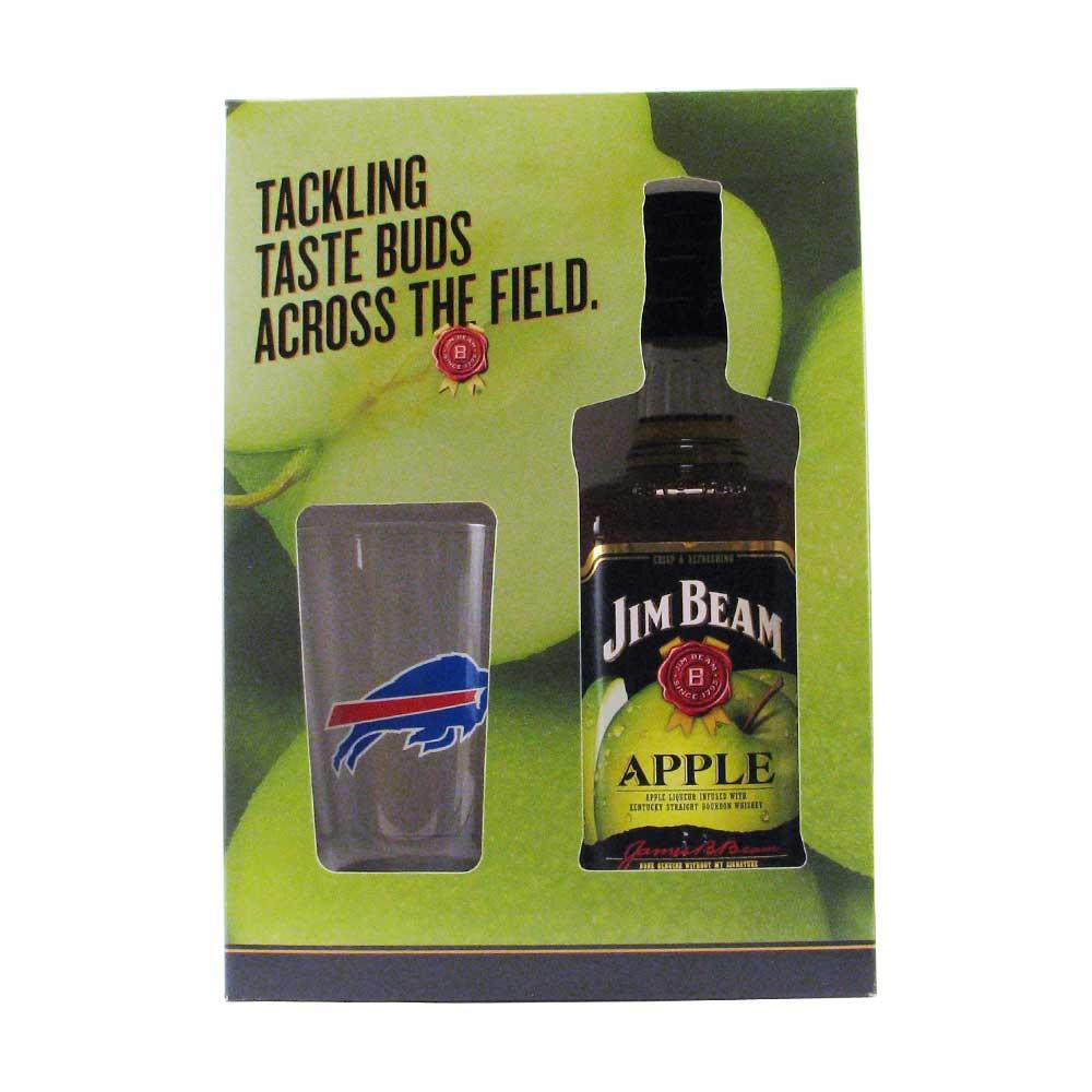 Jim Beam Apple Bourbon Bills Gift Set 750ml