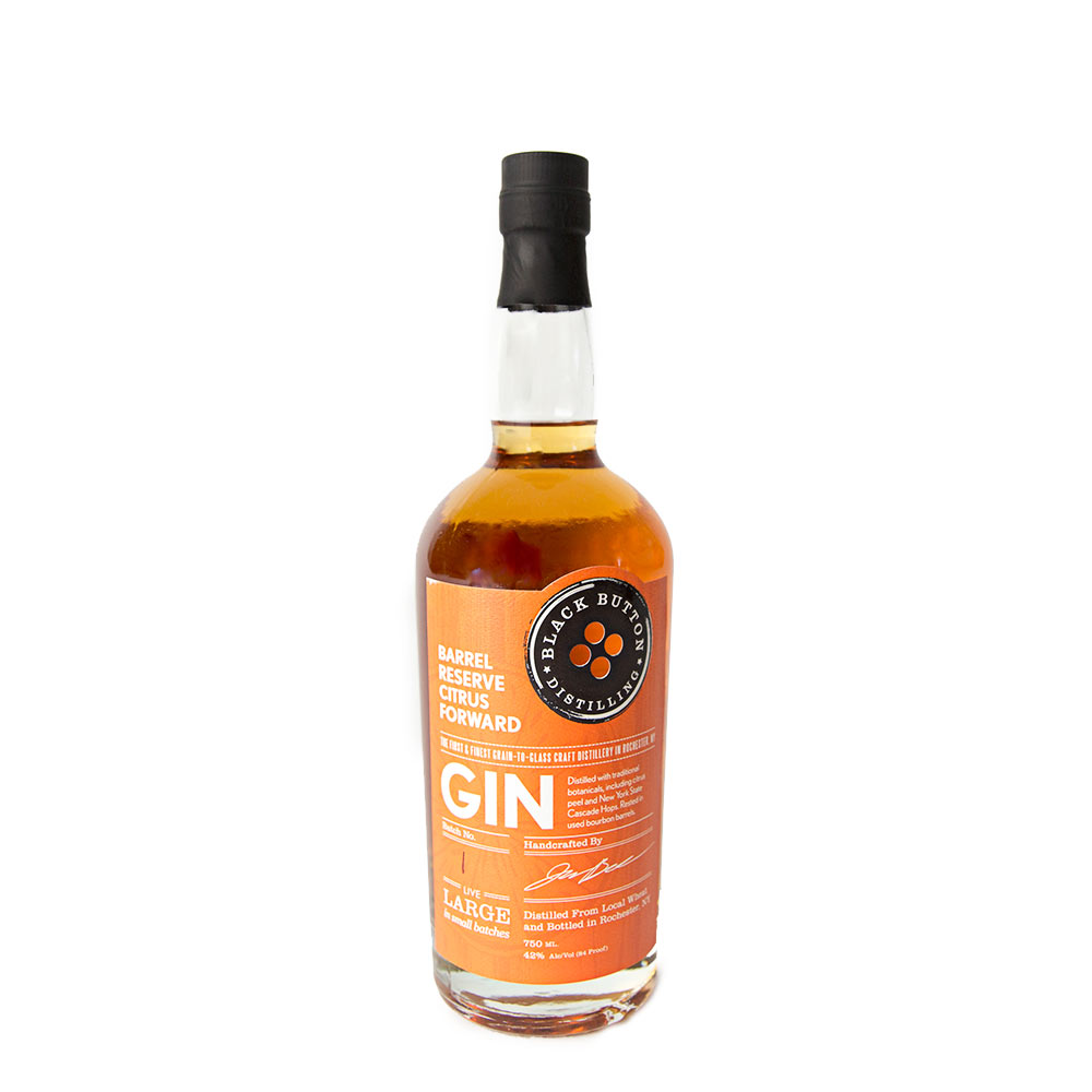 Black Button Distillery Barrel Reserve Citrus Gin 750ml