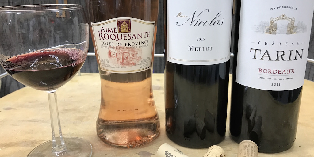 Tasting French Wines: Rosé, Merlot & Bordeaux