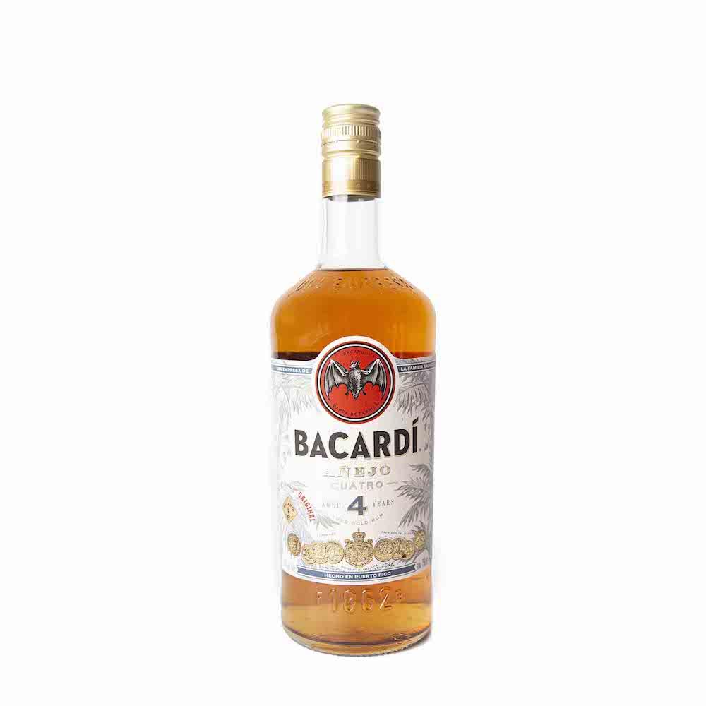 Bacardi Anejo Cuatro Gold Rum 750ml