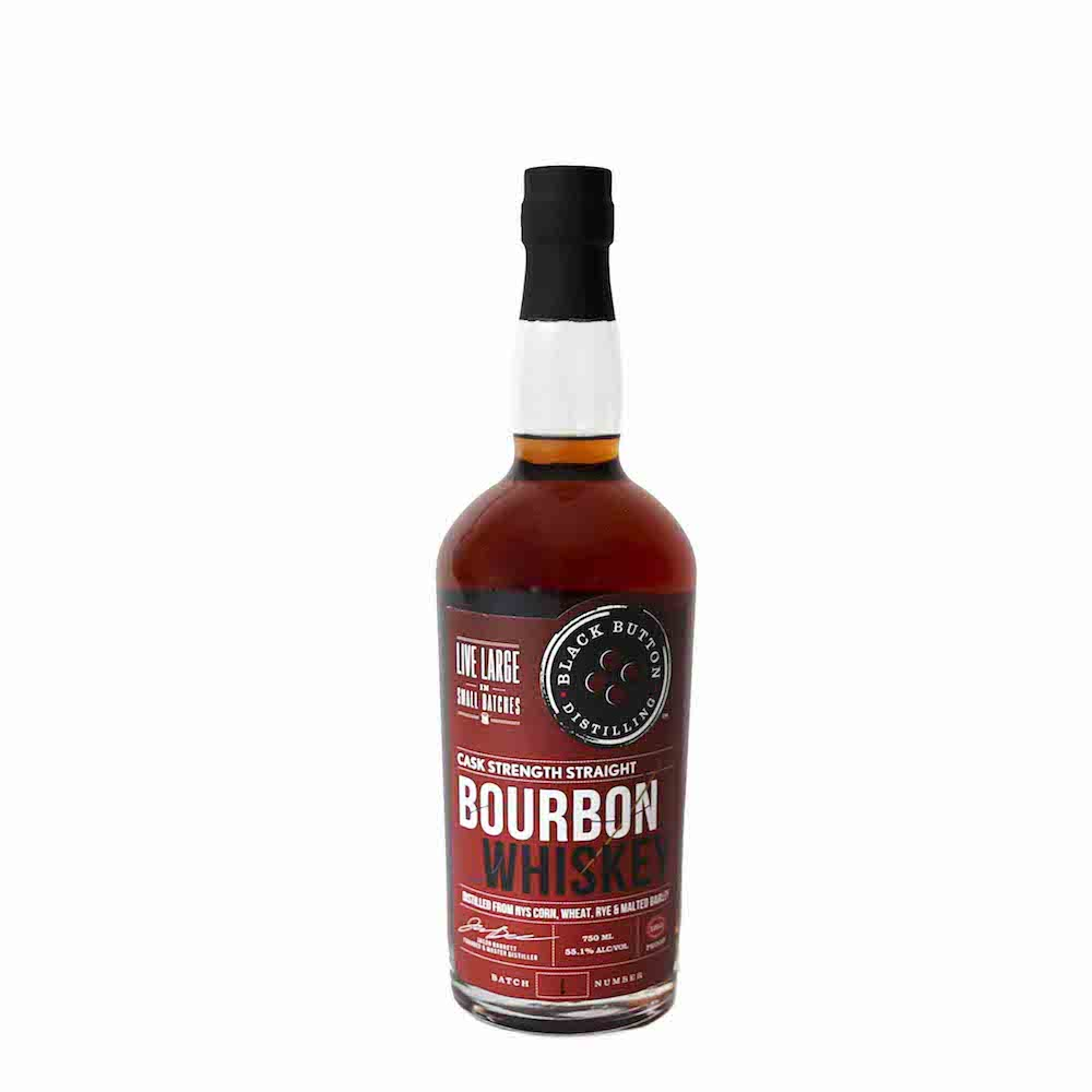 Black Button Cask Strength Straight Bourbon Whiskey 750ml