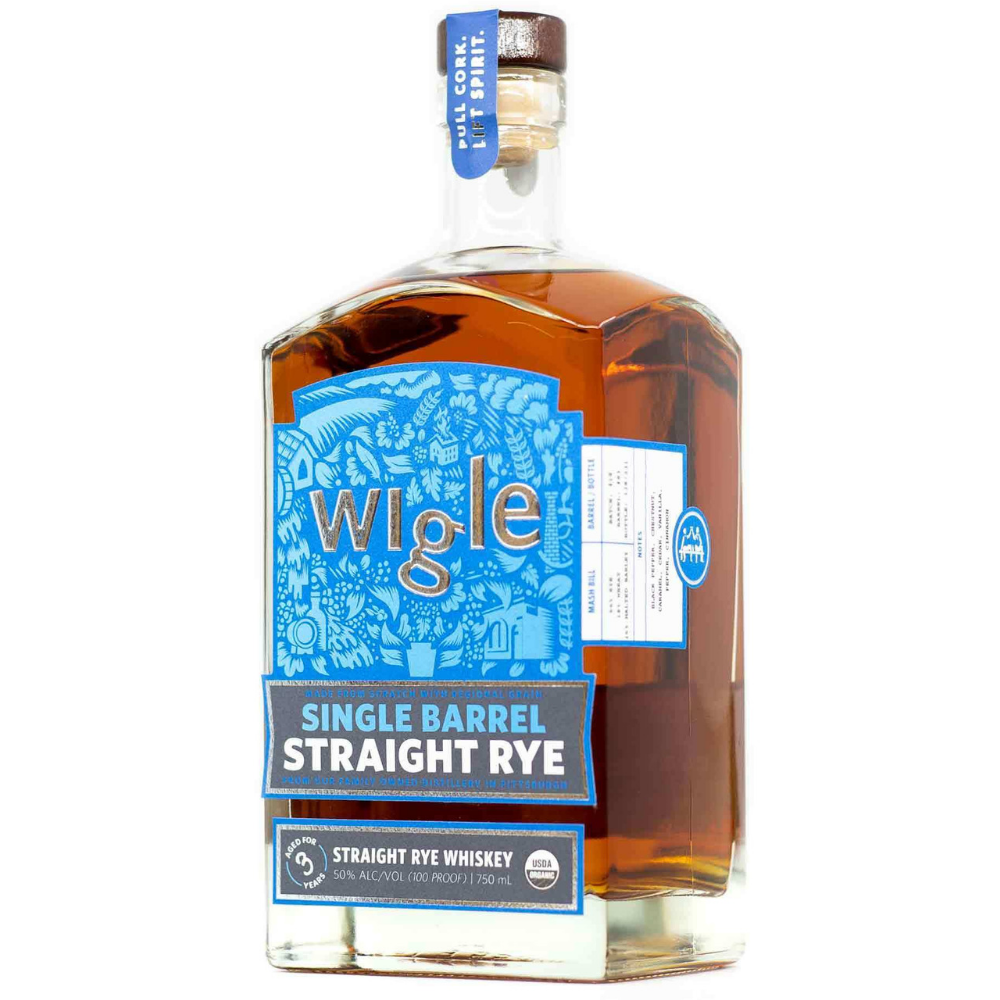 Wigle Single Barrel Straight Rye Whiskey 750ml