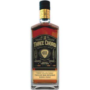 Three Chord Twelve Bar Reserve Barrel Proof Straight Bourbon Whiskey 750ml