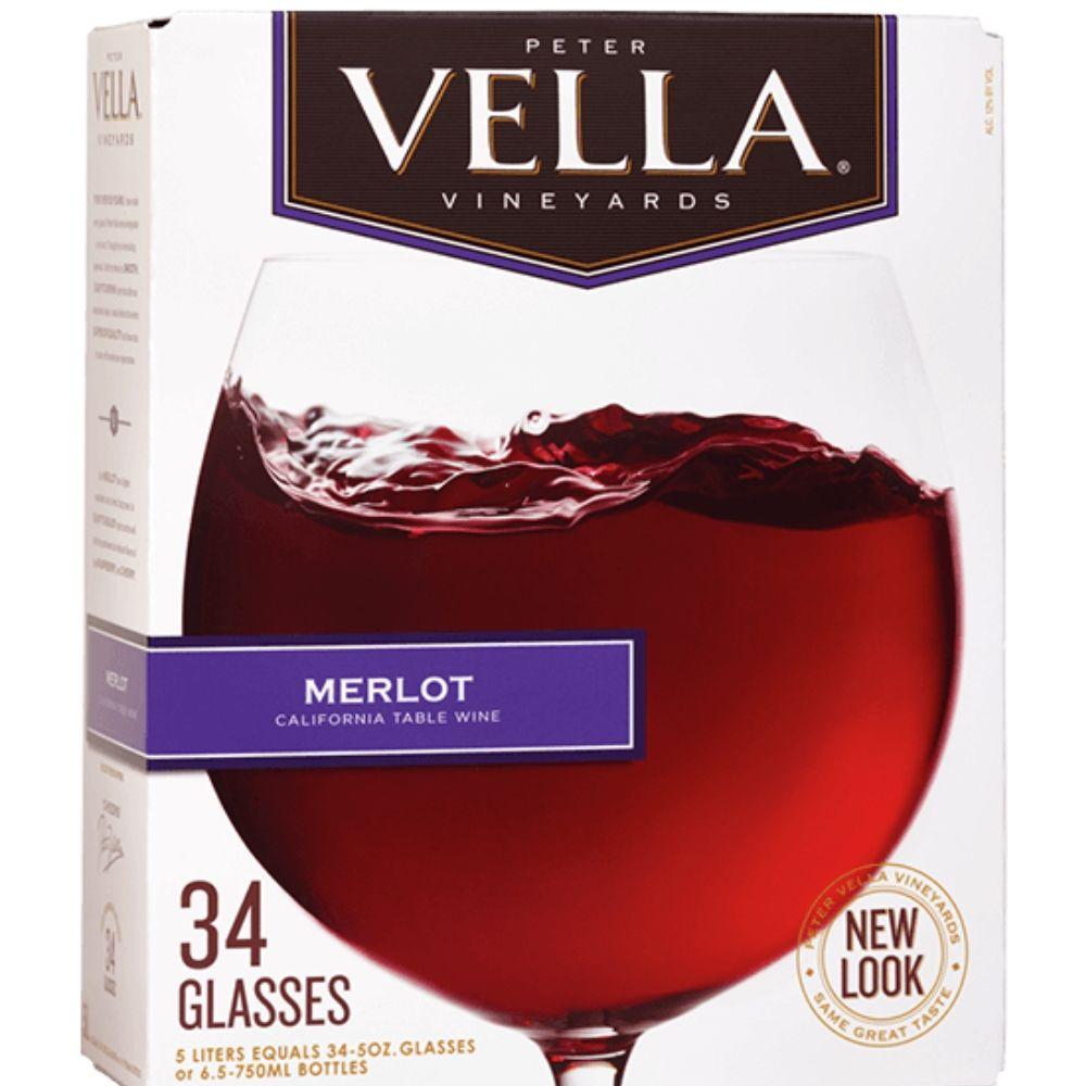 Peter Vella Merlot Box Wine 5L
