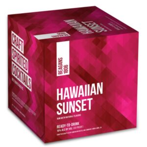 Beagans 1806 Hawaiian Sunset Cocktail 4 Pack