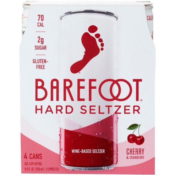 Barefoot Hard Seltzer Cherry & Cranberry 250mL 4 Pack