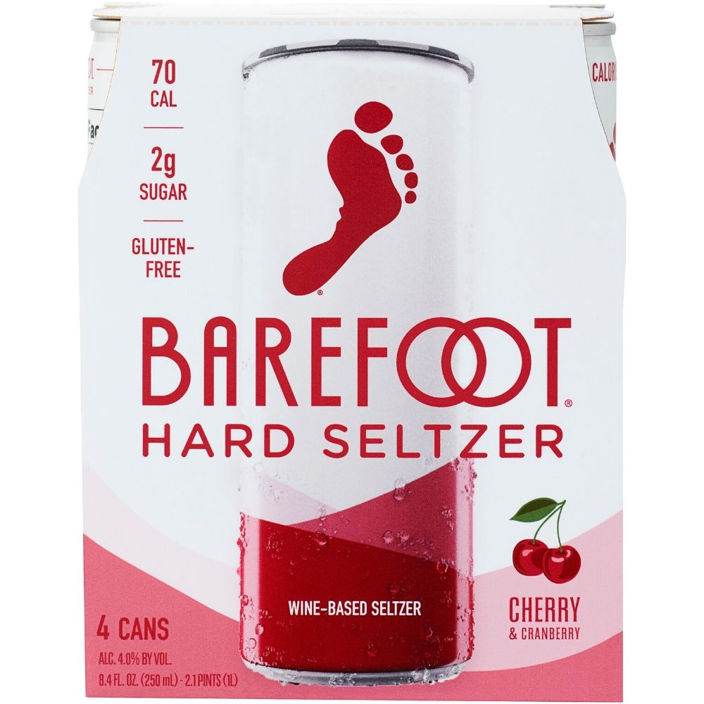 Barefoot Hard Seltzer Cherry & Cranberry 250mL 4 Pack