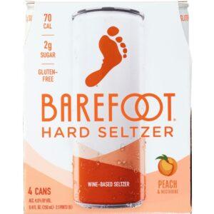 Barefoot Hard Seltzer Peach & Nectarine 250mL 4 Pack