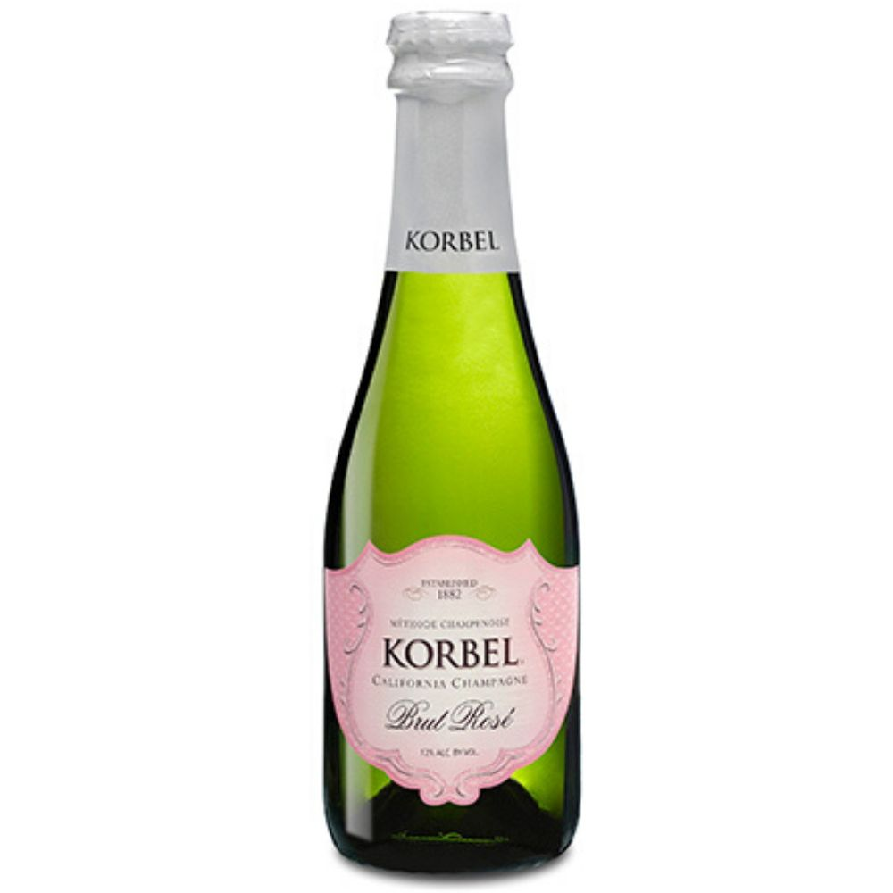 Korbel Brut Rosé Champagne 187mL