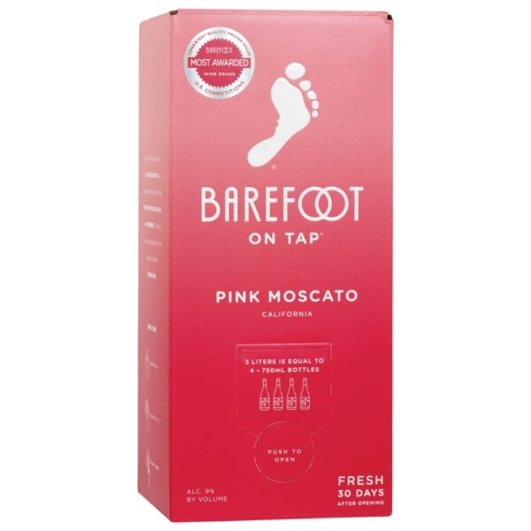 Barefoot On Tap Pink Moscato Box 3L