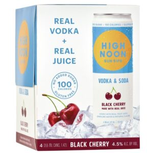 High Noon Black Cherry Vodka & Soda 355ml 4 Pack
