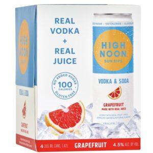 High Noon Grapefruit Vodka & Soda 355ml 4 Pack