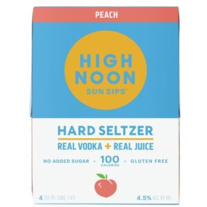 High Noon Peach Vodka & Soda 355ml 4 Pack