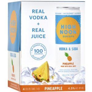 High Noon Pineapple Vodka & Soda 355ml 4 Pack