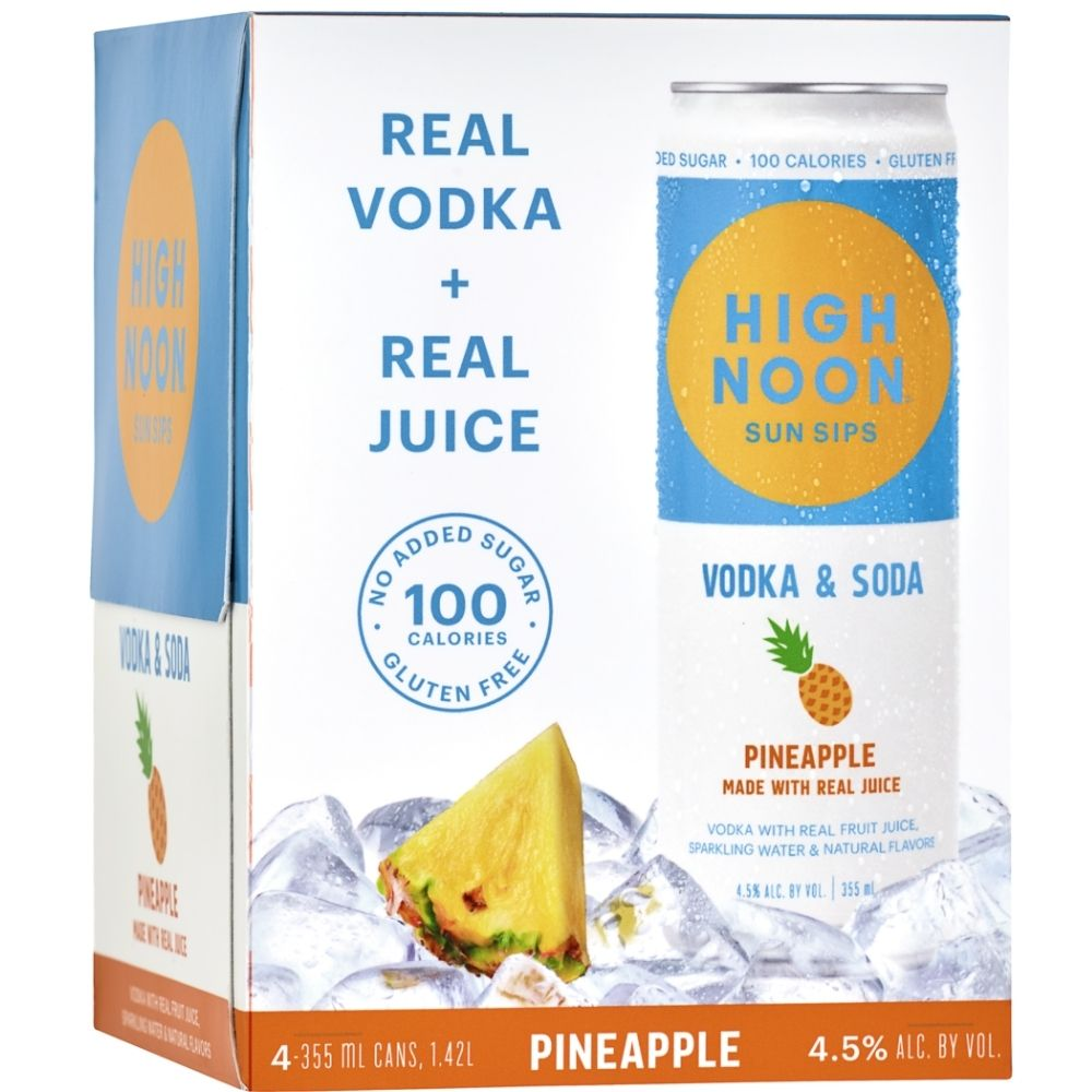High Noon Pineapple Vodka & Soda 355ml 4 Pack
