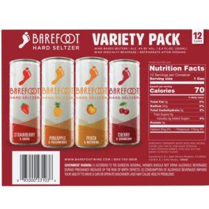 Barefoot Hard Seltzer Variety 12 Pack 250mL