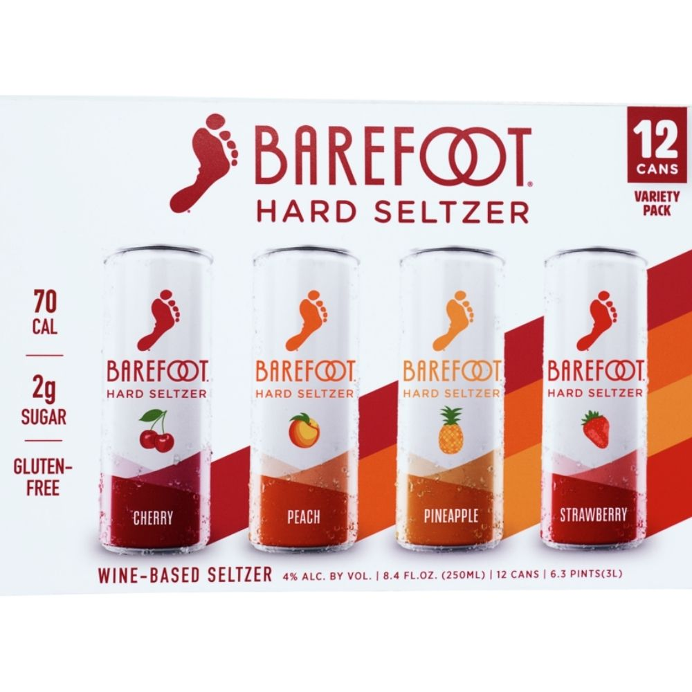 Barefoot Hard Seltzer Variety 12 Pack 250mL