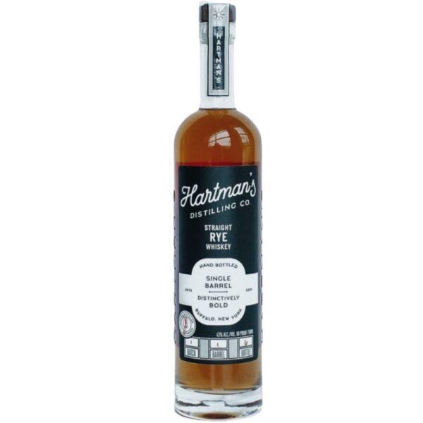 Hartman's Distilling Co. Single Barrel Straight Rye Whiskey 750mL