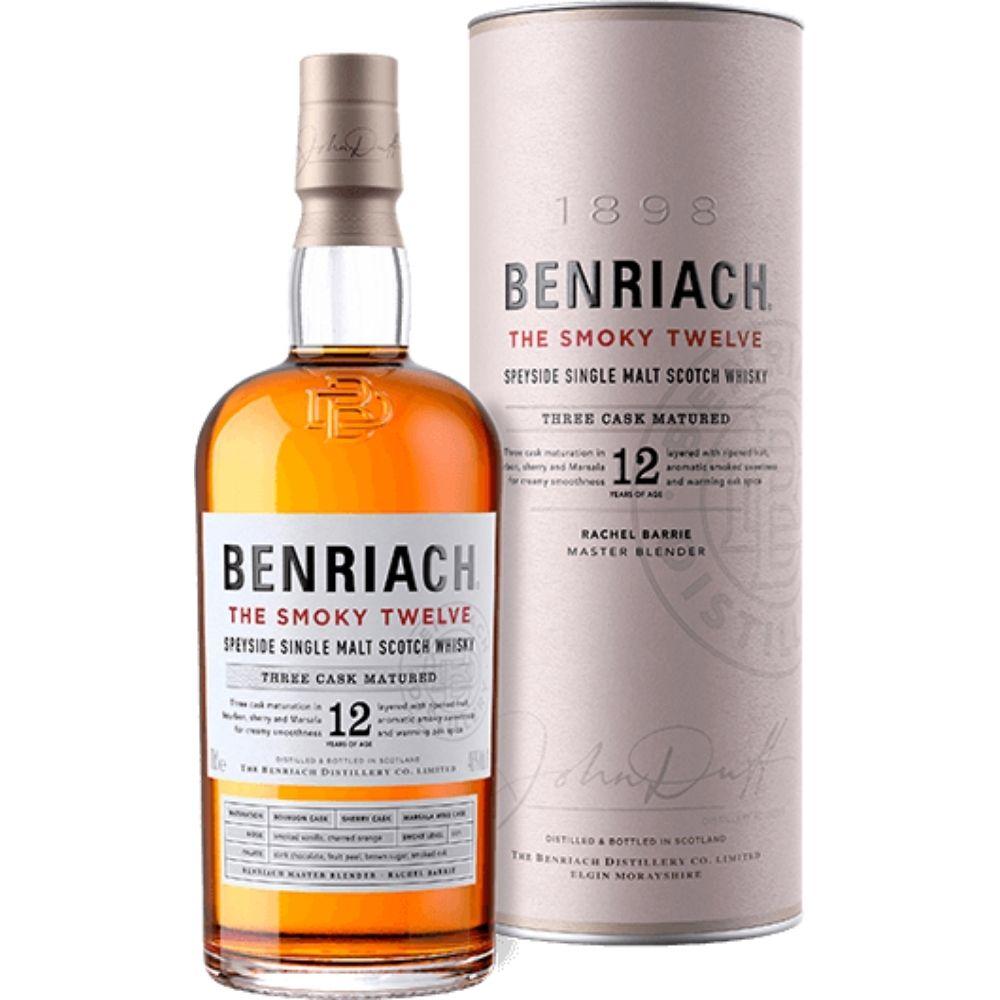 Benriach The Smoky Twelve 12 Year Old Speyside Single Malt Scotch Whiskey 750mL