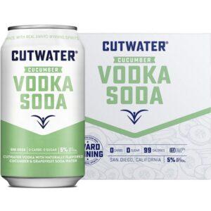 Cutwater Fugu Cucumber Vodka Soda 4 Pack 355mL