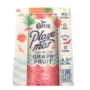 José Cuervo Playamar Tequila Hard Seltzers Grapefruit 355mL 4 Pack