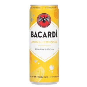 Bacardi Limon & Lemonade Canned Cocktail 4 Pack 355mL