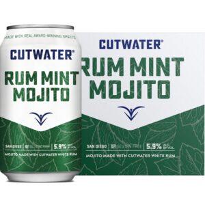 Cutwater Spirits Rum Mint Mojito 4 Pack 355mL